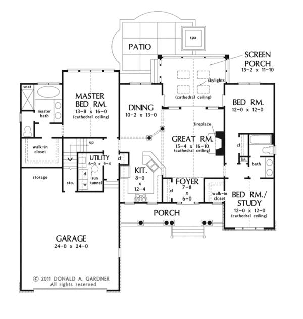 Architectural House Design - Country Floor Plan - Main Floor Plan #929-940