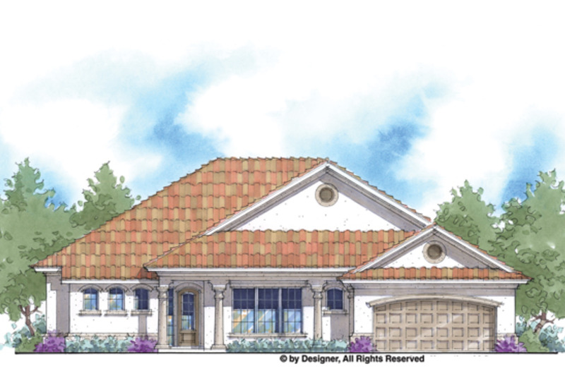 Mediterranean Exterior - Front Elevation Plan #938-70 - Houseplans.com