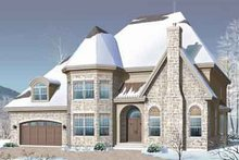 Dream House Plan - European Exterior - Front Elevation Plan #23-665