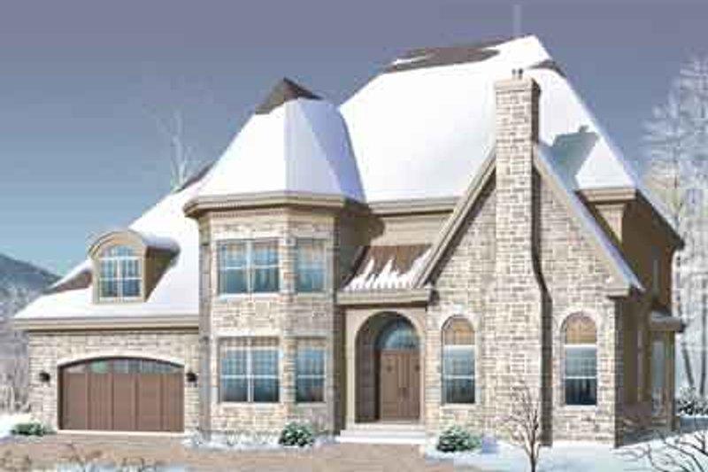 European Exterior - Front Elevation Plan #23-665 - Houseplans.com