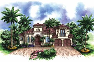 House Plan Design - Mediterranean Exterior - Front Elevation Plan #1017-124