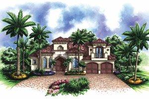 House Plan Design - Mediterranean Exterior - Front Elevation Plan #1017-124