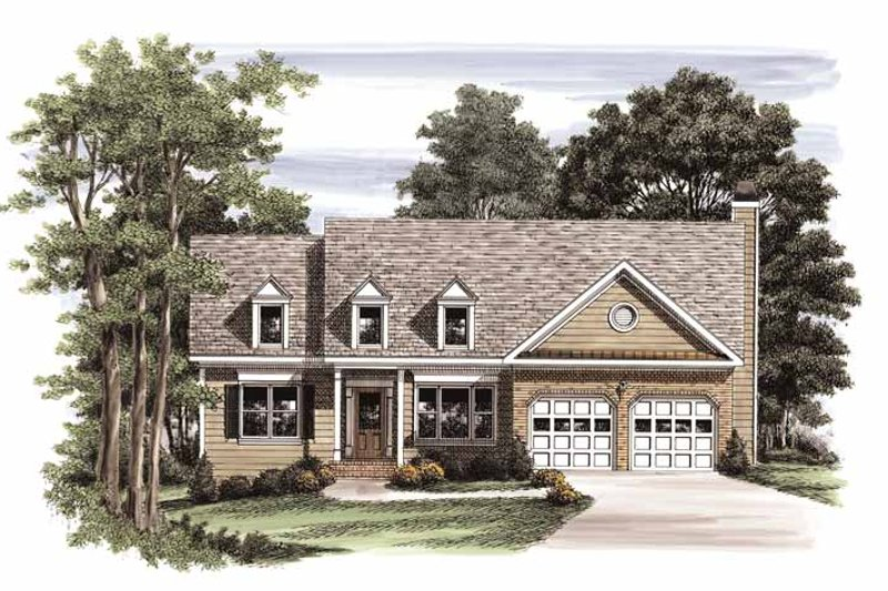 Home Plan - Country Exterior - Front Elevation Plan #927-555