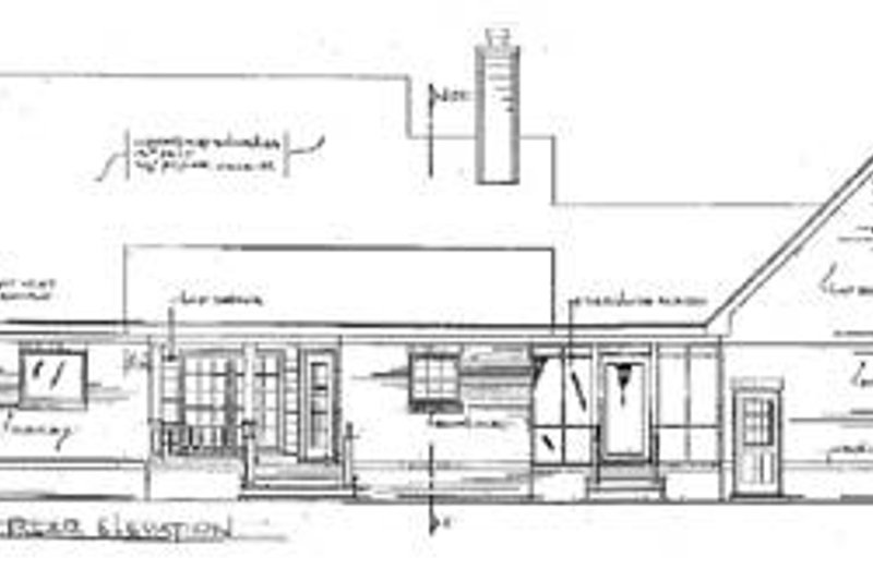 Architectural House Design - Traditional Exterior - Rear Elevation Plan #14-155