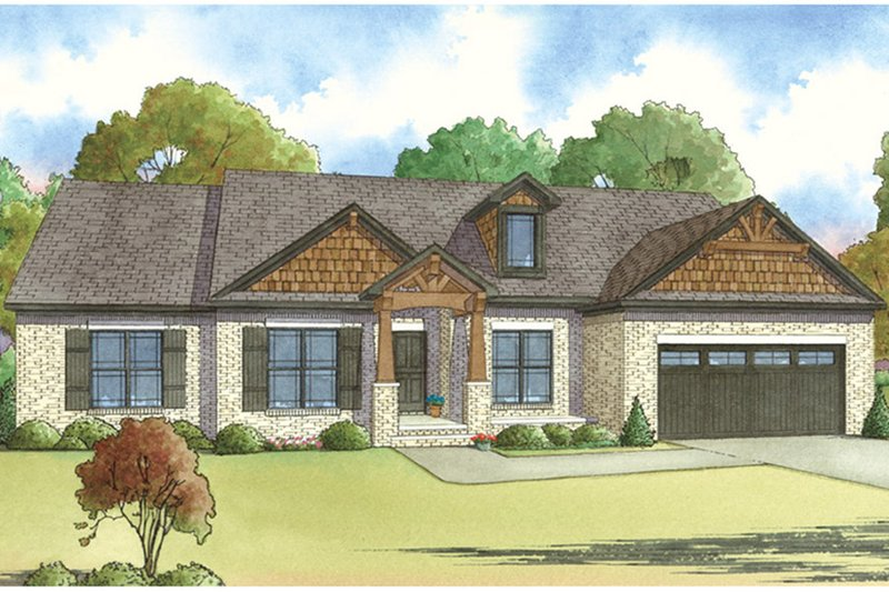 Architectural House Design - Ranch Exterior - Front Elevation Plan #17-3396
