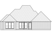 Architectural House Design - Southern Exterior - Rear Elevation Plan #1074-35
