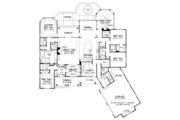 Ranch Style House Plan - 4 Beds 4 Baths 3045 Sq/Ft Plan #929-1007 Floor Plan - Main Floor