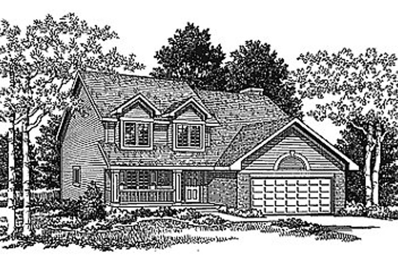 Traditional Exterior - Front Elevation Plan #70-313
