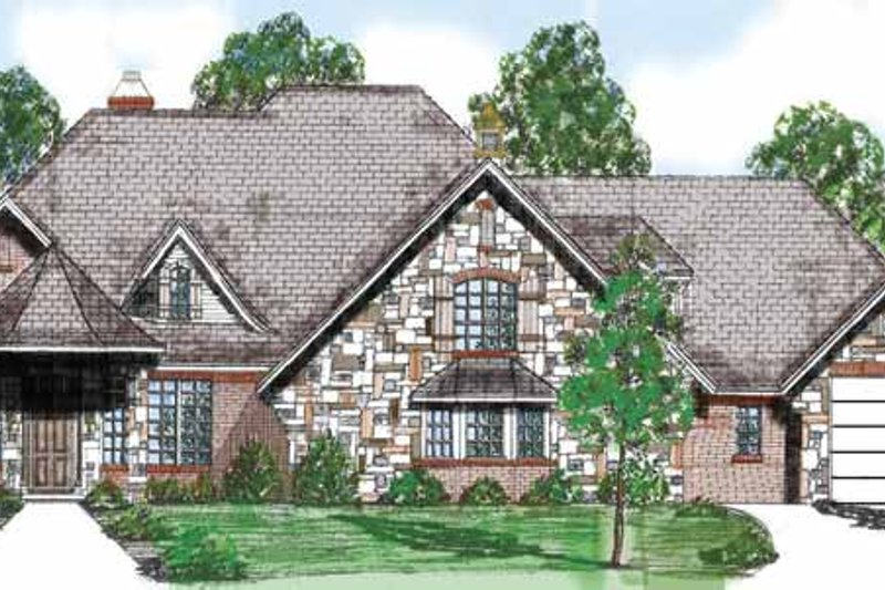 Traditional Exterior - Front Elevation Plan #52-254