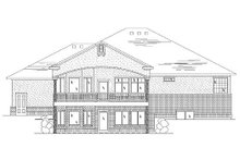 Dream House Plan - Traditional Exterior - Rear Elevation Plan #5-379