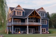 Craftsman Style House Plan - 3 Beds 3.5 Baths 2770 Sq/Ft Plan #1064-17 Exterior - Rear Elevation