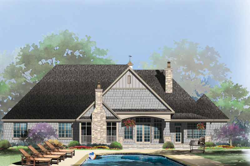Craftsman Exterior - Rear Elevation Plan #929-952 - Houseplans.com