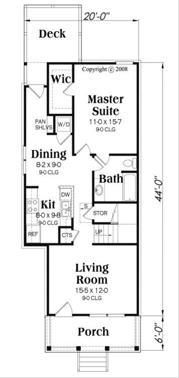 Traditional Floor Plan - Main Floor Plan Plan #419-232