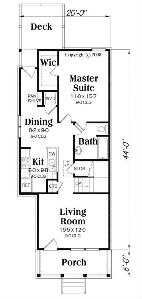 Traditional Floor Plan - Main Floor Plan #419-232