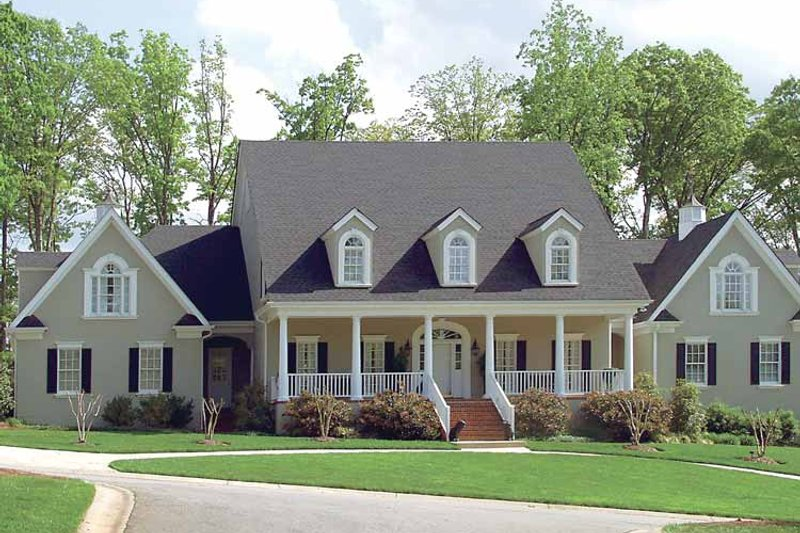 Classical Exterior - Front Elevation Plan #453-192 - Houseplans.com