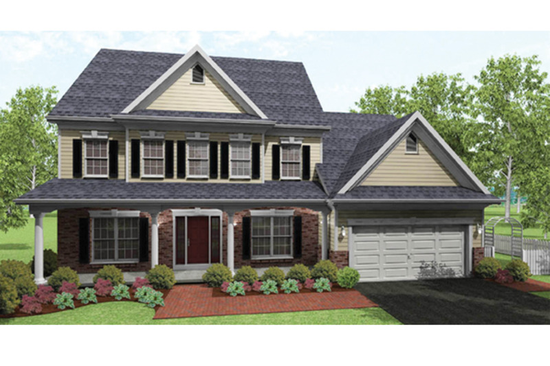Colonial Exterior - Front Elevation Plan #1010-37 - Houseplans.com