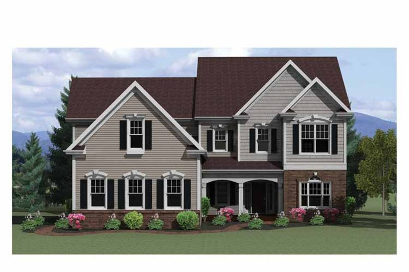 Colonial Exterior - Front Elevation Plan #1010-19 - Houseplans.com