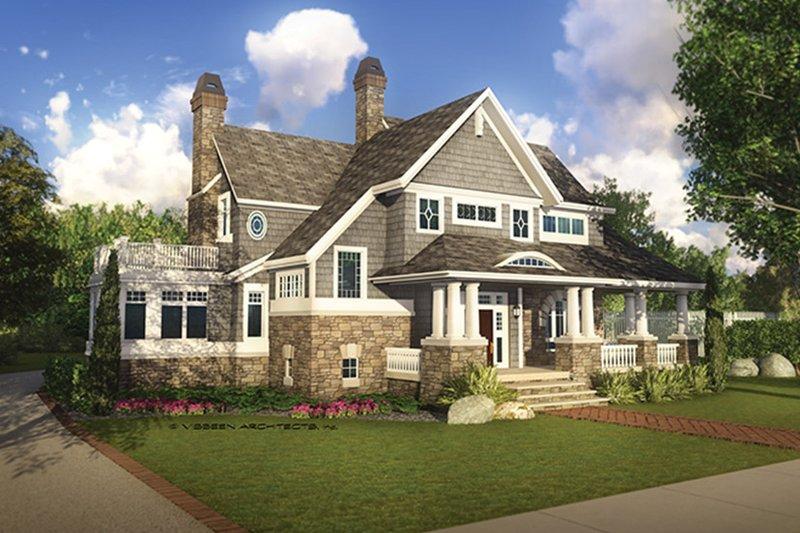 Architectural House Design - Craftsman Exterior - Front Elevation Plan #928-185