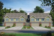 Traditional Style House Plan - 3 Beds 2.5 Baths 2065 Sq/Ft Plan #20-2382 Exterior - Front Elevation
