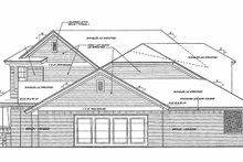 Home Plan - Traditional Exterior - Rear Elevation Plan #310-1254
