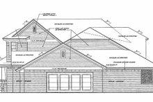 House Plan Design - Traditional Exterior - Rear Elevation Plan #310-1254