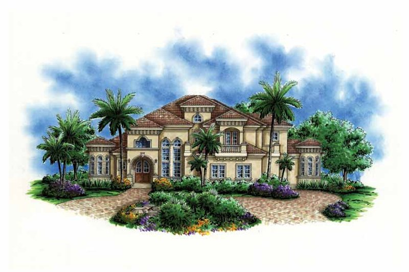 Mediterranean Exterior - Front Elevation Plan #1017-102 - Houseplans.com