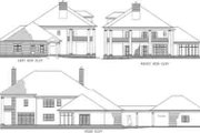 Southern Style House Plan - 4 Beds 4.5 Baths 5051 Sq/Ft Plan #71-125 Exterior - Rear Elevation