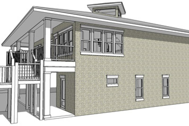 Country Exterior - Other Elevation Plan #64-265 - Houseplans.com