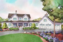 Dream House Plan - Farmhouse Exterior - Front Elevation Plan #928-309