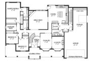 Craftsman Style House Plan - 3 Beds 2 Baths 3278 Sq/Ft Plan #1057-6 Floor Plan - Main Floor