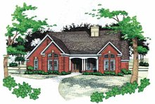 House Plan Design - Traditional Exterior - Front Elevation Plan #120-196