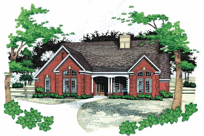 Traditional Exterior - Front Elevation Plan #120-196 - Houseplans.com