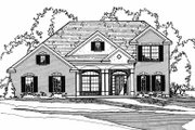 Colonial Style House Plan - 3 Beds 2.5 Baths 2257 Sq/Ft Plan #31-104 Exterior - Front Elevation