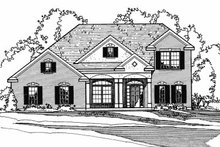 Colonial Exterior - Front Elevation Plan #31-104