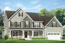 Colonial Exterior - Front Elevation Plan #1010-173