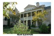Classical Style House Plan - 5 Beds 5 Baths 6570 Sq/Ft Plan #429-47 Exterior - Rear Elevation
