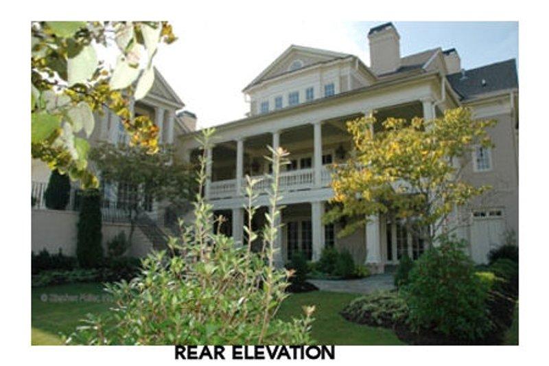 Classical Exterior - Rear Elevation Plan #429-47 - Houseplans.com