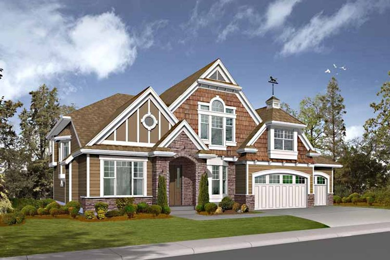 Craftsman Exterior - Front Elevation Plan #132-455
