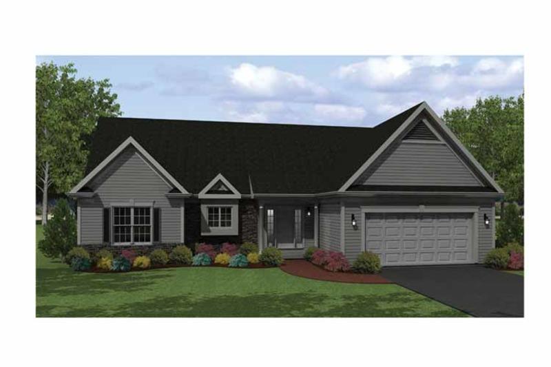 Ranch Exterior - Front Elevation Plan #1010-4 - Houseplans.com