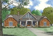 Ranch Exterior - Front Elevation Plan #923-88