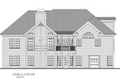 Traditional Style House Plan - 4 Beds 2.5 Baths 2000 Sq/Ft Plan #56-578 Exterior - Rear Elevation