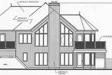 Dream House Plan - Modern Exterior - Rear Elevation Plan #23-389