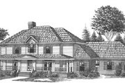 Traditional Style House Plan - 5 Beds 4.5 Baths 4715 Sq/Ft Plan #15-231 Exterior - Front Elevation
