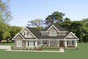 Craftsman Style House Plan - 4 Beds 3.5 Baths 2910 Sq/Ft Plan #898-52 Exterior - Front Elevation