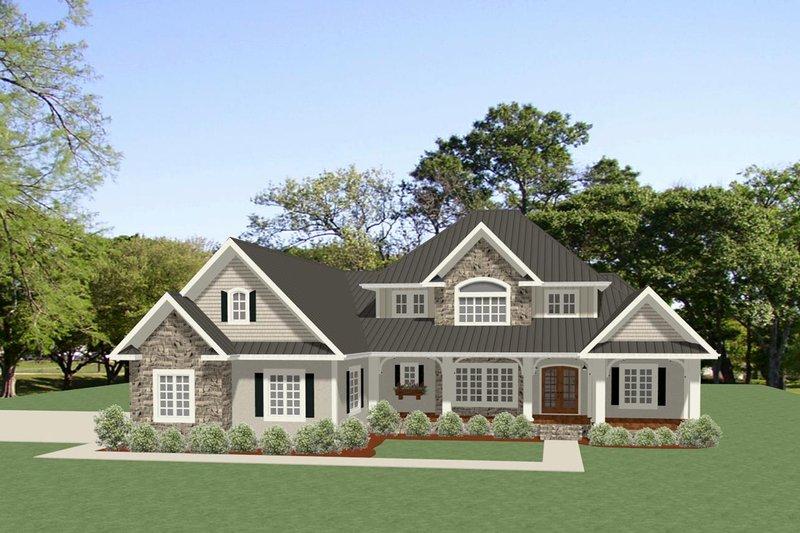 Craftsman Exterior - Front Elevation Plan #898-52