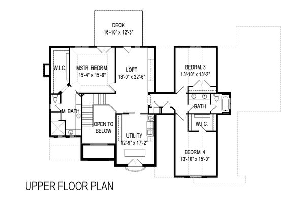 European Floor Plan - Upper Floor Plan Plan #920-116