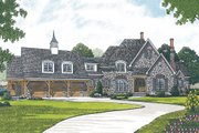 European Style House Plan - 3 Beds 4.5 Baths 3660 Sq/Ft Plan #453-42 Exterior - Front Elevation