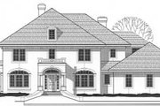 Mediterranean Style House Plan - 5 Beds 4 Baths 3523 Sq/Ft Plan #67-602 Exterior - Front Elevation