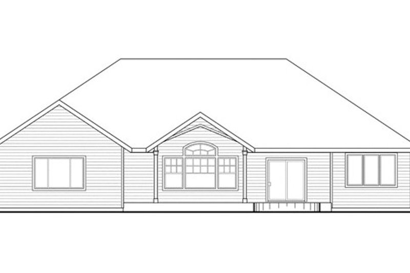 Country Exterior - Rear Elevation Plan #124-835 - Houseplans.com