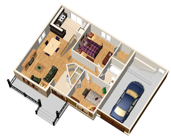 Country Floor Plan - Main Floor Plan Plan #25-4537